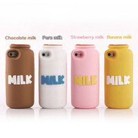 For Apple iPhone Silicone White Wholesale - new for iphone5S 5 brand milk bottle silicone mobile phone case