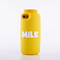 For Apple iPhone Silicone White Wholesale - new for iphone5S 5 brand milk bottle silicone mobile phone case Yellow