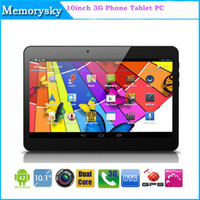 10 pouces 1G WCDMA 3G 8G phablet MTK6572 Dual Core Android 4.4 GPS bluetooth Wifi Double Carte SIM double caméra fente Phone Call Tablet PC 002471