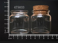 Glass Cork Gift (EMS) Free shipping Wholesale Fashion 50ml Clear Glass Wishing Bottle With Cork DIY Lucky Bottle In 475033