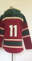 Free Shipping #11 Zach Parise Red Pullover 2014 Hockey Jerse...