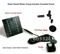 Wholesale Fountain pool Solar Power clean water pump Garden Plants Watering Pump Kit L H