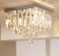 Cheap Chandelier Crystal K9 Free LED bulb Simple Reliable Quality Material Square Design Small Asile Penthouse Living Room Hotel Project Lights