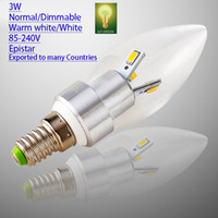 Candle export packing - LED bulb E14 Candle w Epistar chip v Normal Dimmable Exported to many Countries Hi bright pack Special for Pendant light