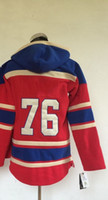 #76 P. K. Subban Red Pullover 2014 Hockey Jersey Hoodies Lace...