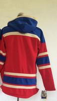 blank hoodie - Blank Red Pullover Hockey Jersey Hoodies Lace Up Winter Outdoor Sportswear Warm Hooded Sweatshirts Cheap Hoody