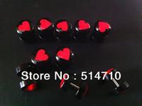 Body Jewelry fake gauges - illusion cheaters mm Piercing fake gauge black acrylic heart logo drip fake ear plug body jewelry