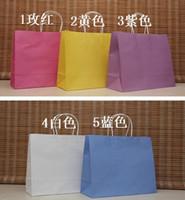 Paper Hand Length Handle Kraft Paper Wholesale Big Size Shopping bag, 33X26X12CM,Janpan technical, Kraft paper bag with handle, Fashionable gift bag (AS-0101)