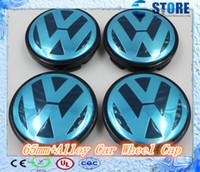 alloy wheel caps - Hot Sale mm mm BLUE Alloy Wheel Centre Center Cap Caps Car Badge Emblem Emblems for VW Volkswagen J