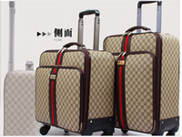 Wholesale Draw bar box universal wheel Unisex trunk landing chassis PU Chao Han Vintage suitcase