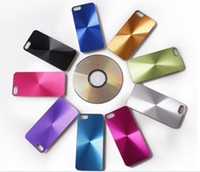 Wholesale CD Pattern Aluminum Metal Plastic Skin Back Cover Case for iphone S Hard Case Shell for iPhone S DHL MOQ