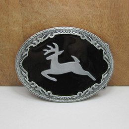 BuckleHome metal deer belt buckle animal buckle with pewter plating FP-02823 free shipping