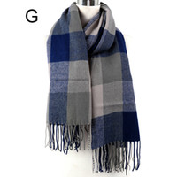 Wholesale 2014 women and mens winter scarves big size wool scarf plaid acrylic men and women tartan scarf and shawl NL L