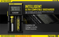Wholesale NITECORE D2 Digicharger Intelligent LCD Display vs I2 Universal Smart Charger for IMR Li ion Ni MH Ni Cd and LiFePO4 Rechargeable Batteries