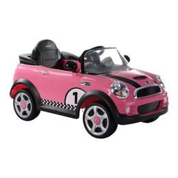 Wholesale Good boy four wheel electric vehicle simulation MiniCoopers children W446Q B L003 pink