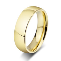 wholesale stainless steel ring 18K gold rings for men and wo...