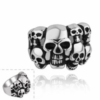 Wholesale new arrive R01 Stylish Horror Skull men noble jewelry various styles L stainless steel punk ring