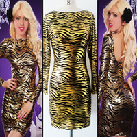 Cheap Clubwear dress Best Zebra-stripe Leather lingerie