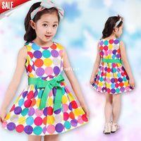 Wholesale Retail princess summer baby girls dancing clothing princess children tutu kids dress age