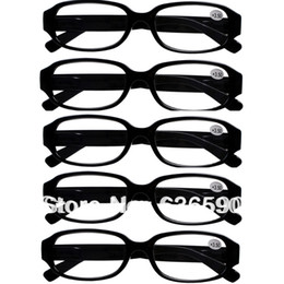 Wholesale Pairs Mens Womens Black PV Frame Indestructible Reading Glasses Spectacles Strengths