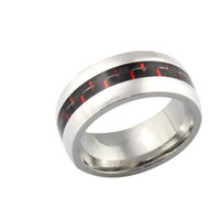 Women's carbon steel ring - carbon fiber ring stainless steel ring R