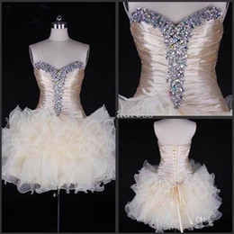 Pretty Ball Gown Sweetheart Beading Lace-up Short-Length Sweet 16 Homecoming Cocktail Dress