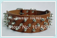 berry products - inch Width Berry Genuine Leather Spikes Dog Collars Big Dogs Pet Products
