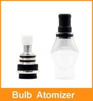 Cheap Bulb Atomizer newest eGo Clearomizer Globe Glass Pyrex Glass core for flat connector E Cig Clear Cartomizer Dry Herb Wax Vaporizer