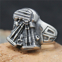 band engine - Mens L Stainless Steel Cool Biker Engine Silver Punk Gothic Style Ring Factory Price