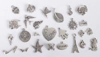 52PCS Mixed Lots of Antiqued Silver Metal Charms #24313