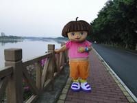 Wholesale Adult D Dora Mascot Costume Fancy Dress Suit Halloween Outfit