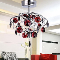 Wholesale LED cm Crystal Pendant Light Chandelier Lamp for Living Room Luxurious Dining Room Ceiling Lamp