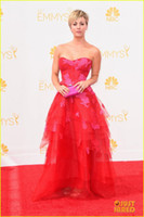 Wholesale Kaley Cuoco Red Carpet Emmys Awards Celebrity Dresses Evening Gown Formal