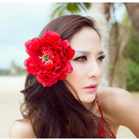 Hair Flowers Silk Flower hair accessories Silk Flower Handmade Hair Accessories Flowers Bridal Girls' Hair Accessories Bridal Headdress Headpiece For Grils Party Prom ZC