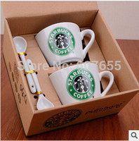 Bone China starbucks - Starbucks coffee cup set Starbucks cup Coffee mug Water bottle Cute couple office Ceramics cup With spoon