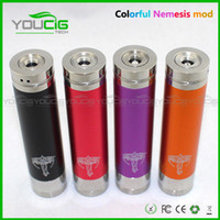 Metal   Mechanical Mod Locking Bottom Button Adjustable King Nemesis Chi you Electronic Cigarette E Cigarette Mod fit 18650 battery mod clone