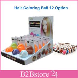 Wholesale-144pcs/lot Fashion Hair Coloring Balls DIY Hair Chalk Non-toxic Temporary Hair Balls Fast DHL