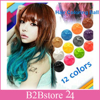 12 Colors Fashion Hair Coloring Balls Non- toxic Temporary Ha...