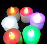 Wholesale 24pcs box Plastic LED Electronic Candle Romantic Candle Lamp For Party Wedding Dinner GNO