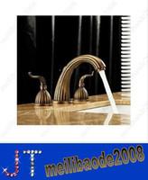 Wholesale 8 quot Antique Brass bathroom sink Faucet Handles wide spread HSA0678