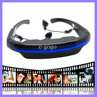 Wholesale 52 quot Virtual Wide Screen Digital Video Glasses Rechargeable Private Eyewear Mobile Theater GB