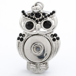 NSP609 Hot Sale Snap Pendant Button Jewelry Owl Pendant Snap Charm Holder 2014 Fashion New