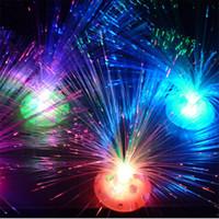 al por mayor x mas luces-Noche de fibra óptica colorida luz LED multicolor fibra colorida fiesta de fibra óptica de la lámpara de techo DIY Luz regalo de Navidad Partido x-mas