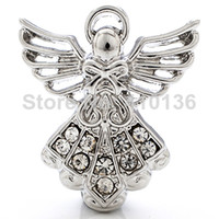 Quilt Accessories angels quilt - NSB1250 Hot Sale Snap Jewelry Button For Bracelet Necklace Fashion DIY Jewelry Angel Design Crystal Alloy Nosa Snaps