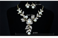 Wholesale LNB Hot Sale Bridal Jewelry Exquisite Pearl Diamond Necklace Evening Earring Accessories Wedding Jewelry Fast Delivery Fitting