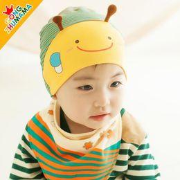 Wholesale Hot Sale Children s caps sets boys girls hats kids cartoon Bee autumn winter Newborn baby sling suit with cap sets