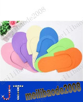 Wholesale HOT Disposable Slipper EVA Foam Salon Spa Slipper Disposable Pedicure thong Slippers Beauty Slippers MYY2540