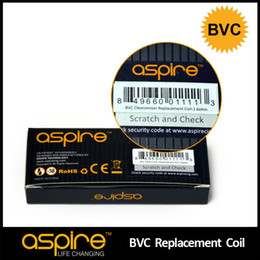 Wholesale - Original Aspire BVC Dual Coil Head Replacement Coil Atomizer Core E Cigarette Coil Bottom Vertical Coil Ecig Wick Newest Product