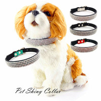 Valentine's Day,New Year,Chirstmas luxury pet products - Luxury Shining Dog Collar New Row Rhinestone Design Pet Collar Dog Cat Products Puppy Adjustable Collar