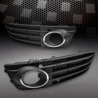Wholesale Front Bumper Fog Light Cover Grilles non sline For Audi A4 B8 AL Pair Racing Grills